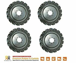 Skids Steer Loader Solid Tires X 4 No Flat 10x16 5 Mustang New Holland 31x10 20