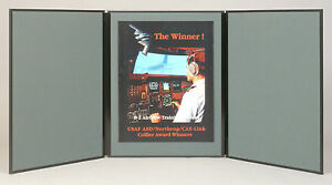 Folding 3 Panel 48 X 20 Gray Tabletop Display For Use With Velcro Hook Tape