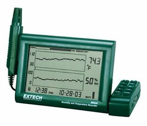 Extech Rh520 Humidity And Temperature Chart Recorder With Rs 232 Computer Inter