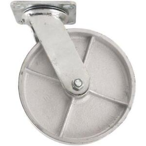 Steel Caster Wheel With Swiveling Top Plate 8 inch 1050 Lb Load Capacity