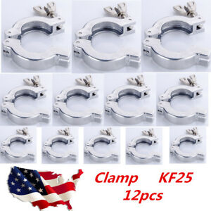 12pcs Lot Kf25 Hinge Clamp For Vacuum Fittings Iso kf Flange Size Nw 25 Us Stock