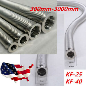 Kf40 Bellows Hose Nw40 Flange Flexible Sst Vacuum Pipe Tube Corrugated Lots Sale