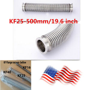Us Kf 25 500mm Nw25 Bellows Hose Flange Flexible Sst Vacuum Pipe Tube Corrugated