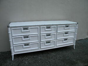 Hollywood Regency Mid Century Painted Dresser By Stanley 2882