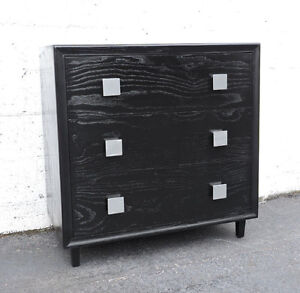 Mid Century Modern Painted Black Small Dresser By Acme Furniture 7868