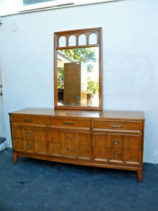 Mid Century Modern Dresser With Mirror Tv Media Console By Dixie 3219