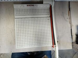 Boston 2612 Paper Cutter 12 Trimmer Heavy Duty Guillotine Usa Made Works Great