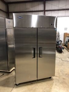 Atosa Mbf8002 Commercial 2 Door Reach In Freezer Used Stainless Freezer