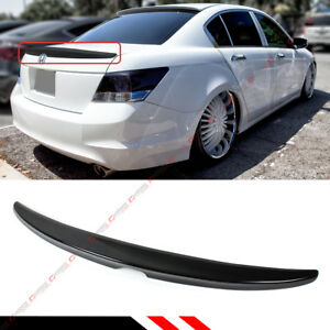 For 2008 2012 Honda Accord 4dr Sedan Painted Glossy Blk Rear Trunk Lid Spoiler