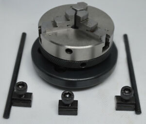 3 Jaw Self Centering Lathe Chuck 65mm With Backplate For 3 4 Rotary Tables