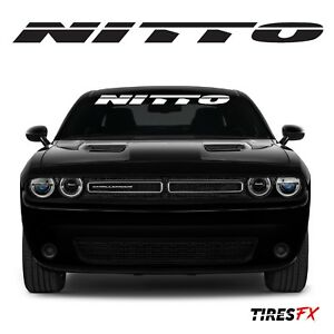 Nitto 40 Windshield Banner Decal Sticker Subaru Honda Dodge Charger Challenger