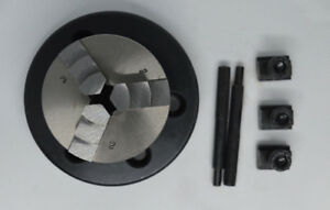 3 Jaw Self Centering Lathe Chuck 50mm With Backplate For 3 4 Rotary Tables