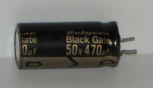 Rubycon Black Gate Capacitor 50v 470uf extremely Rare