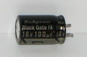 Rubycon Black Gate Fk Capacitor 16v 100uf extremely Rare