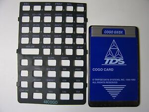 Tds Cogo Card For The Hp 48gx sx Calculator With Overlay