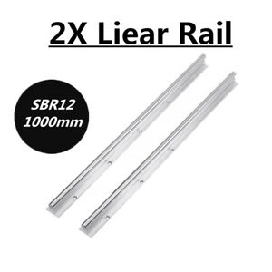 Us Shipping Sbr12 1000mm Linear Bearing Slide Guide Rod For Cnc 3d Printer 2x