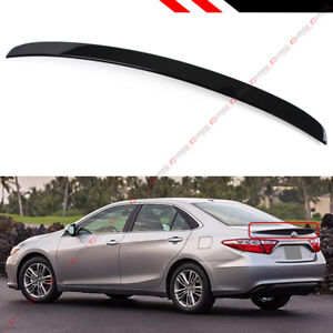 For 2012 2014 Toyota Camry Le Se Xle Painted Glossy Blk Rear Trunk Lid Spoiler