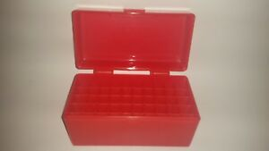 BERRY'S PLASTIC AMMO BOX RED 50 Round 243  308  More- BUY 5 GET 1 FREE