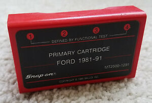 Snap On Mt2500 1291 Primary Cartridge Ford 1981 91