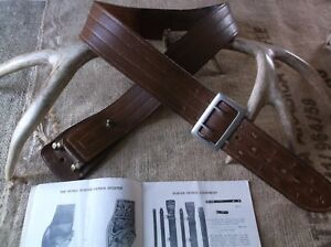 Vintage Sd Myres Brown Leather Police Duty Beltsize 44