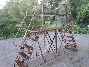 Rolling Ladder With Wheels And Brakes In Good Condition 10 Ft Long Total Used