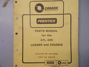 Prentice Series Atl 425 Loader Chassis Parts Manual Hydro Ax