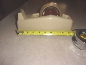 Vintage Scotch Tape Dispenser With Spool And Tape Desk Top 9 x6 x 2 5