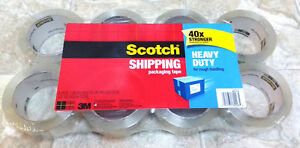 Scotch Shipping Tape Heavy Duty 8 Pack 40x Strength 54 6 Yard Rolls