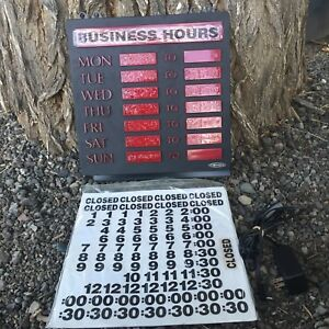 Newon Led Lighted Business Hours Sign Model 4484 W Cord Manual