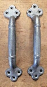 Pair Of 9 Large Rustic Handles For Barn Door Or Gate Pull From Antique Design
