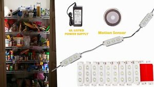 Ledupdates Kitchen Pantry Storage Motion Sensor Led Light Pir Switch Ul Power
