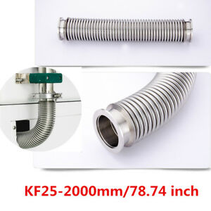 Kf 25 2000mm Bellows Hose Flange Nw25 Flexible Sst Vacuum Pipe Tube Corrugated