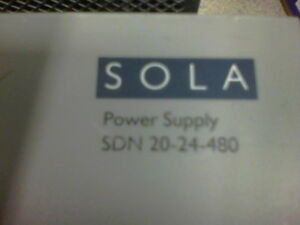 Sola Sdn 20 24 480 20 Amp 24 Vdc Power Supply Tested