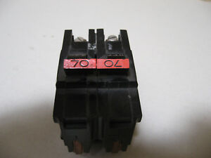 Federal Pacific Fpe Na270 Stab lok Breaker 2 Pole 70a Fpe Na2070