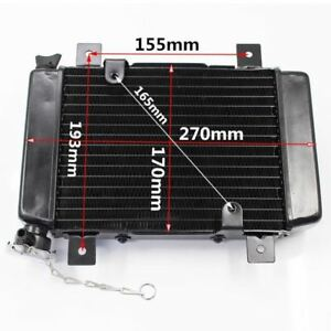 270mm Water Cool Radiator Cooling Pit Racing Quad 250cc Dirt Bike Atv Dune Buggy