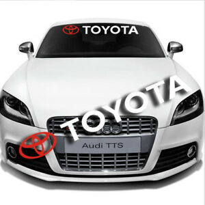 Car Windshield Front Rear Vinyl Banner Window Auto Decal For Toyota Sticker