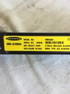 2 banner Mini screen Safety Light Curtain Msr3224 Mse3224 0 75in No Blanking