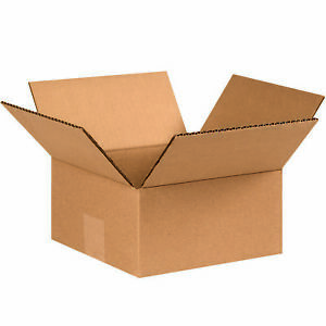 Box Partners Flat Corrugated Boxes 8 X 8 X 4 Kraft 25 bundle 884