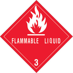 Tape Logic Labels flammable Liquids 3 4 X 4 Red white 500 roll Dl5120