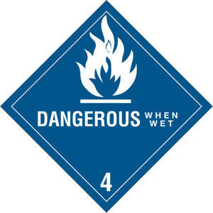 Tape Logic Labels dangerous When Wet 4 4 X 4 Blue white 500 roll Dl5150