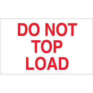 Tape Logic Labels do Not Top Load 3 X 5 Red white 500 roll Dl1220