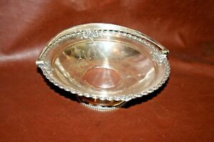 Antique English James Dixon Sheffield Silverplate Footed Pedestal Plate Compote