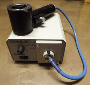 Leitz Microscope Brightfield Darkfield Illuminator 1x Dolan Jenner Fiber Optic