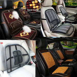 Natural Wood Beads Massage Car Seat Cover Mesh Mat For Auto Home Chair Cushion