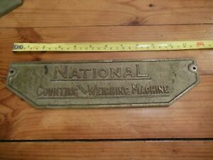 The National Computing And Weighing Machine Scale Name Badge 1917