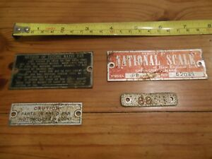 The National Computing And Weighing Machine Scale Badges 1917