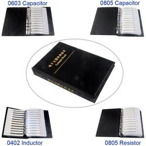 0603 0805 0402 Smd Capacitor Inductor Resistor Assortment Kit Sample Book