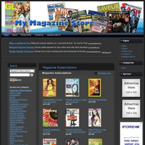 Magazine Store Professionally Designed Affiliate Website For Sale free Domain