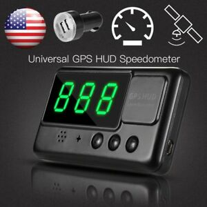 Universal Gps Hud Digital Head Up Display Car Truck Speedometer Speed Warning Pp