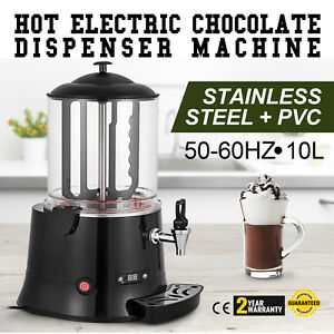 10l Electric Hot Chocolate Dispenser Black Chocolate Machine Chocofairy 400w